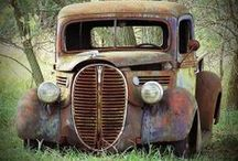 Abandoned Places / Derelict buildings, cars and places.  Long ago abandoned.  So sad that circumstances can be prosperous one moment and tragic the the next. But that is life.  Change is inevitable. #abandoned #relics #architecture #automobiles,  / by Salzano's