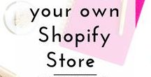 Shopify store / Everything you need to know about starting your own store on Shopify.