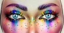 Rainbow Makeup / Rainbow makeup looks. Who doesn't love colour?