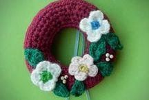 amigurumi crochet christmas tree ornaments / crocheted christmas / winter decorations
