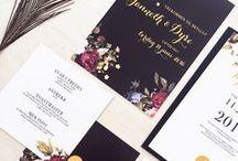 Modern wedding invitations / Moderne bryllupsinvitasjoner Modern wedding invitations