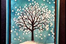 Winter Wonderland / Hannukah, or winter holidays.  Season's Greetings or Happy Holidays cards appropriate for those who don't celebrate Christmas. / by For the LOVE of Stampin' UP!