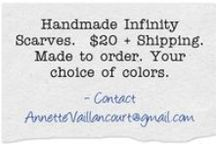 """Crocheting for Charity / Custom Handmade Infinity Scarves $20 each.  $500 is all it takes to give a Solar Sister a 'business in a bag', a complete set of tools including inventory, training and marketing to start her sustainable solar business. I'm half way there with my """"Crocheting for Charity"""" idea as I just had an order for 6 more infinity scarves!. Check out Solar Sisters http://www.solarsister.org/"""