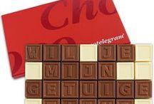 Chocoladetelegrammen, Chocolade Geschenken / Zeg het met chocolade, valt altijd in de smaak!