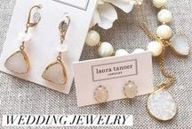 LTJ + Bridal Collection / Lovely bridal and bridesmaid jewelry for your special day. All handmade in USA. Featuring natural gemstones on delicate sterling silver and gold chains. Shop lauratannerjewelry.com for more styles.