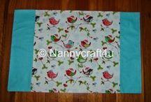 Make pillowcases / Nanny guides you in making : standard pillowcases, pillowcases from FQs.