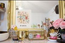 Vanity Decor / Vanity Tables, Make up storage, Vanity Decoration, Ideas