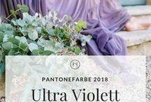 Ultra Violett Pantonefarbe 2018 / Setze die Pantonefarbe Ultraviolett gekonnt in deiner Hochzeit im. Inspiration für deine Hochzeit. Gestalte dein Moodboard in lila.