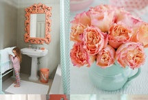 Coral/Turquoise Color Scheme / by Posh Petals & Pearls