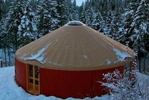 """Yurt Living / A yurt is one of our """"dream"""" houses."""