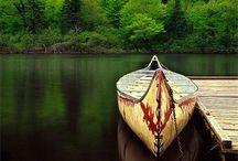 Still Water / #boat #lake #canoe #bodies_of_water #Sea    #boats_on_still_water