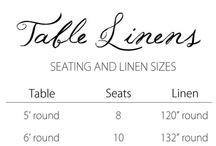 Tables & Linens