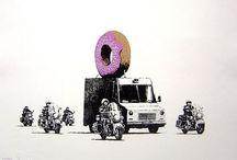 Banksy... / by L u c y G a n d o.