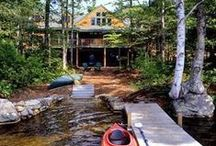 """~Cabin Retreat~ / Getting """"off the grid"""" without leaving comforts behind.  #CabinDreams / by Angela Machin"""