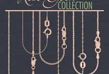 Rose Gold Collection / We now carry various jewelry components and findings in rose gold, including ring shanks, diamond bands, earrings, ear nuts, ear posts, leverbacks, chains, clasps, pendants, wire, sizing stock, solder, casting grain, and alloy.
