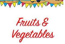 Preschool Theme Fruits & Vegetables / Tons of fun teaching ideas to help teach preschoolers all about fruits and vegetables.
