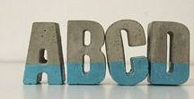 Decorative Concrete Letters / Concrete letters that will make great personalized gifts and also bring the final touch in your home decor
