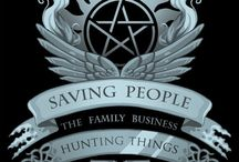 Supernatural / ~ Saving people. Hunting things. The family business ~ The family don't and with blood.