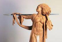Resin /Chavant /Super Sculpey / Sculptures , Figures, decorative pieces