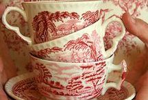 Red / China, tea cups, porcelain, home interior, textiles and more. Everything red.