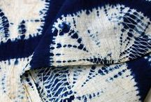 Shibori Dyeing / A Japanese technique of dyeing that involves tying, wrapping and clamping fabric to create patterns. / by Laurie dill-Kocher