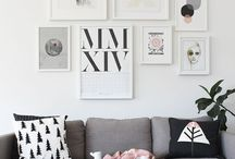 Gallery Wall Ideas / Gallery wall decor and ideas on a budget. Ideas for layout, pictures, and photo alternatives :)