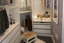 Closet Ideas / Inspiration and ideas to help build and organize your dream closet space!
