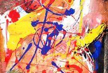 Phonocolori (Sinestesia) / Correlazione tra colore e suono = Sinestesia (percepire insieme). Ogni colore ha la propria lunghezza d'onda e la propria frequenza oscillatoria. Il colore emette una vibrazione di luce come la nota musicale una vibrazione di sensazione. Diversi colori insieme creano melodie e i colori, insieme alle forme (anche se forme destrutturate), diventano armonie.  www.claudiogurra.com