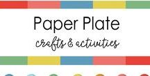 Paper Plate Crafts / Spend an afternoon with your little ones transforming ordinary paper plates and plastic utensils into entertaining craft project