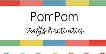 Material -  Cotton ball / Pom Pom Art and Craft / Pins about Cotton ball / Pom Pom Crafts