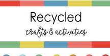 Recycled crafts for kids - Easy, Fun & Simple / preschool activities, Recycled crafts, Earth day crafts,