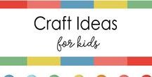 Easy Craft Ideas for kids / The ultimate collection of quick and easy kids craft project ideas that I've rounded up and take less than FIFTEEN minutes to make - fun simple crafts for adults, simple crafts for kids with paper, simple crafts for kids ages 3 5, simple crafts for kids with construction paper,  simple crafts for kids to make at home,