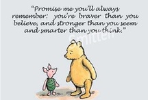 Winnie the Pooh / The bear I raised my daughter with and I will always love. / by Chentzu Hester