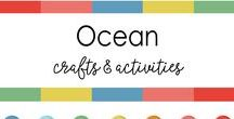 Ocean Crafts For Kids / From dolphins to star fishes, from sharks to octopuses, The marine life is exotic. All Under the sea crafts  linked here