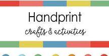 Handprint  Craft for Kids / Handprint , footprint,  thumbprint,  finger paint artwork & Craft ideas  for Kids to Make
