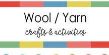 Wool & yarn Crafts for kids / using wool or yarn as a craft medium. Fun easy craft for kids. Pom pom crafts.