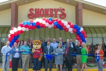 Shoney's / Shoney's West ribbon cutting in West Memphis Arkansas.