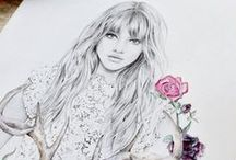 • Art Perfection • / Stunning girly illustrations - www.janeiredale.com.au