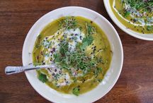 Soups / Warm and cold soups and chowders - perfect for leftovers! From kitchensinkdiaries.blogspot.com
