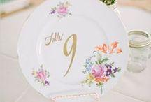 Wedding: Table Numbers / Hochzeit: Tischnummern