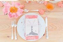 Wedding Color Inspiration: Coral Crush / Hochzeitsfarben: Koralle
