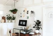 // home | workspace / Workspaces and home office styling ideas.