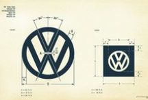 VW Vintage Logo Specifications / I took it upon myself to recreate as faithfully as possible the old VW logo specification sheet. Feel free to use as phone and computer desktop wallpapers.