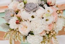 Wedding Color Inspiration: cool mint, peach, gold / Hochzeitsfarben: cool mint, peach, gold
