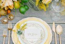 Wedding Color Inspiration: Yellow and Grey / Hochzeitsfarben: gelb und grau