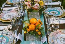 Wedding: Table Design / Hochzeit: Tischdekoration