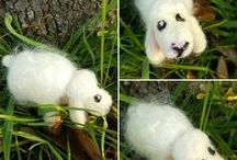 animali feltro ad ago / needle felted animals