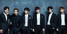 Kpop (Boyfriend) / Kpop-Boyfriend and one pictures with logo BTS
