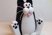 Gatos / Gatos de todos los estilos, colores, olores y sabores :V XD, para hacerlos en porcelana fría/porcelanicron (cold porcelain) Sígueme por favor.(Follow me please)
