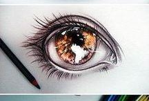 Perfiles / diseño de ojos, rostros, cabello, pies, manos, posturas. Sígueme por favor.(Follow me please)
